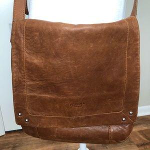 Perlina | Leather Crossbody Messenger Bag  (H014)